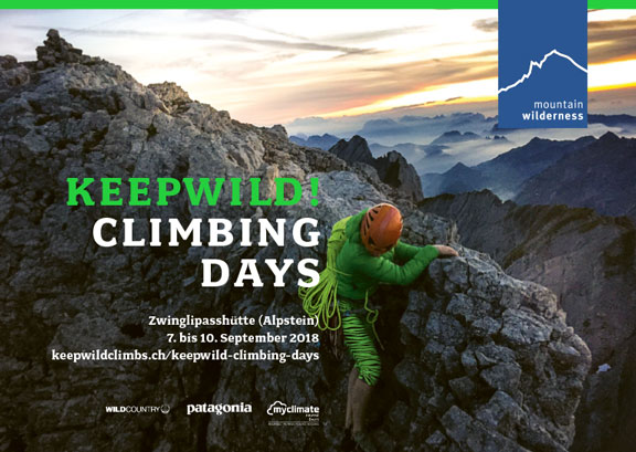 keepwild climbing days flyer